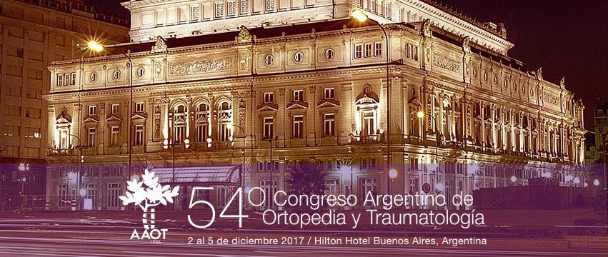 Imágen promocional del 54º Congreso Argentino de Ortopedia y Traumatología del Deporte.