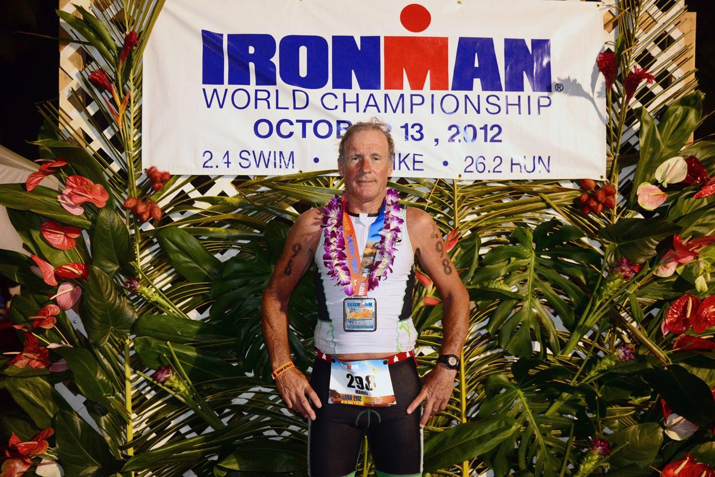 Manuel del Sastre, triatlonista, participante del durísimo desafío deportivo Ironman