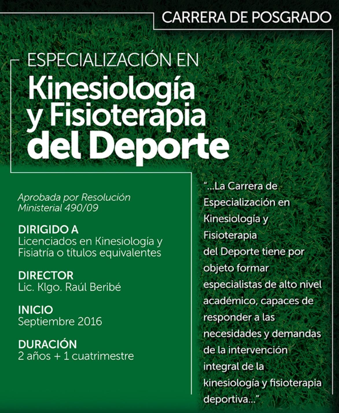 Especialización en Kinesiología y Fisioterapia en Rosario