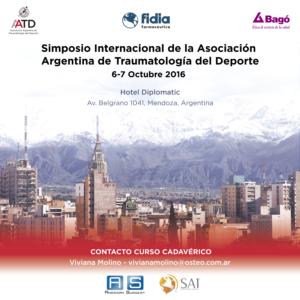Simposio Internacional de la Asociación Argentina de Traumatología del Deporte - Flyer oficial del evento