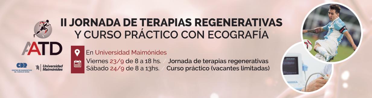 II Jornada de Terapias Regenerativas y Curso Práctico con Ecografia