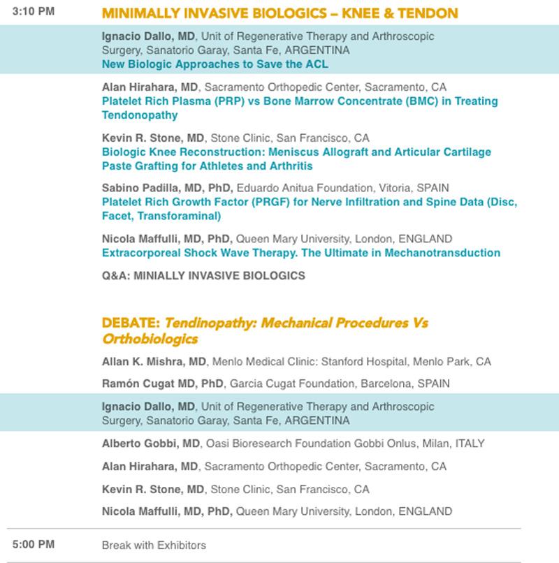 8VO Simposio Anual de PRP y Medicina Regenerativa - Disertaciones del Dr. Ignacio Dallo