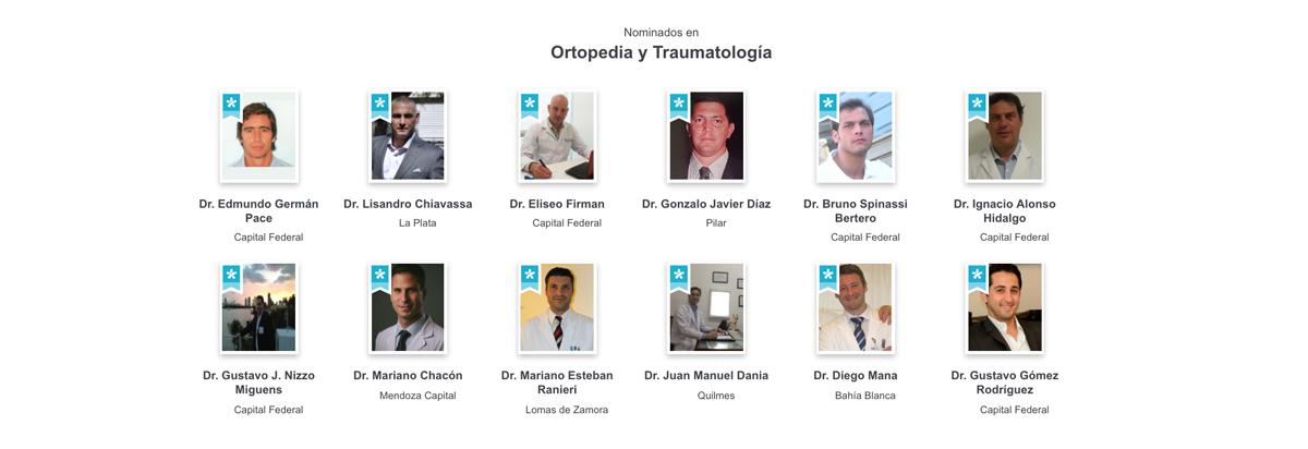 Nominados Doctoralia Awards 2017 Categoría Ortopedia y Traumatología