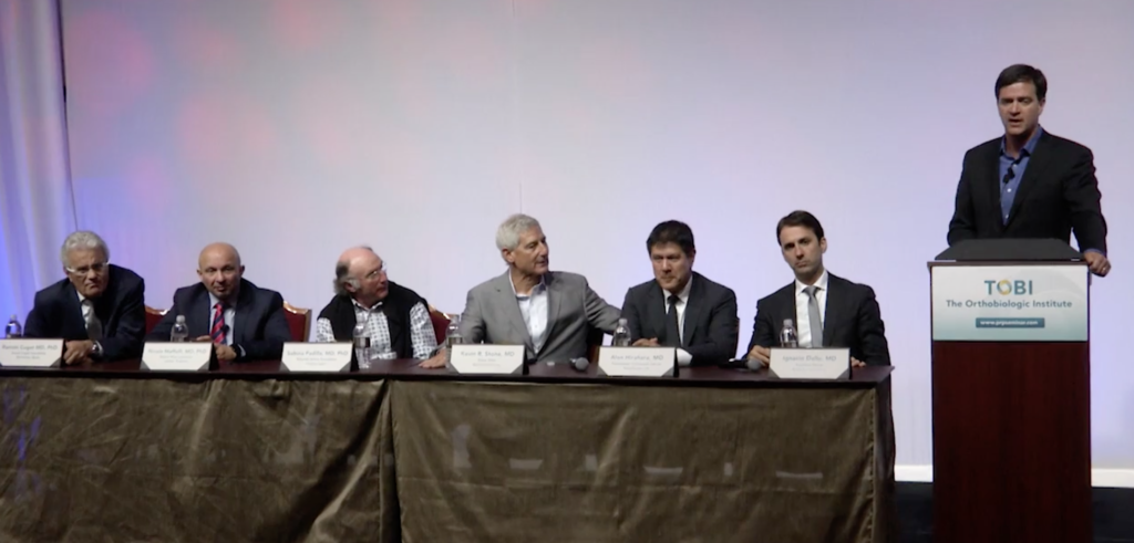 "Dr. Ignacio Dallo panelista en el debate ""Tendinopathy: Mechanical Procedures Vs Orthobiologics"""