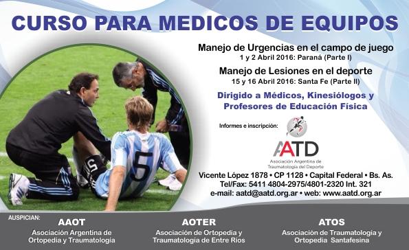 Flyer Curso para Médicos de Equipos